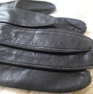 Vintage Accessories - FINE ESTATE , LONG BLACK LEATHER GLOVES! ROME!